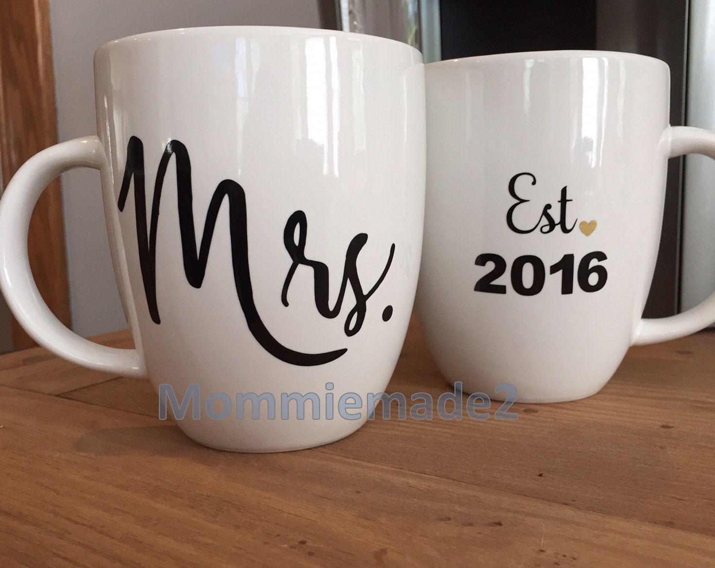 This Clic Design Is The Perfect Set Of Wedding Coffee Mugs You Can Even Customize It For Mr And Or Mrrs