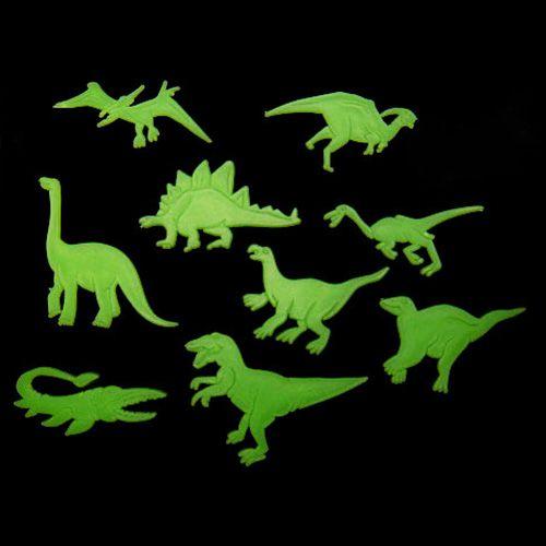 9 Pcs Lueur Dans Le Fonce Dinosaures Jouets Autocollants Plafond