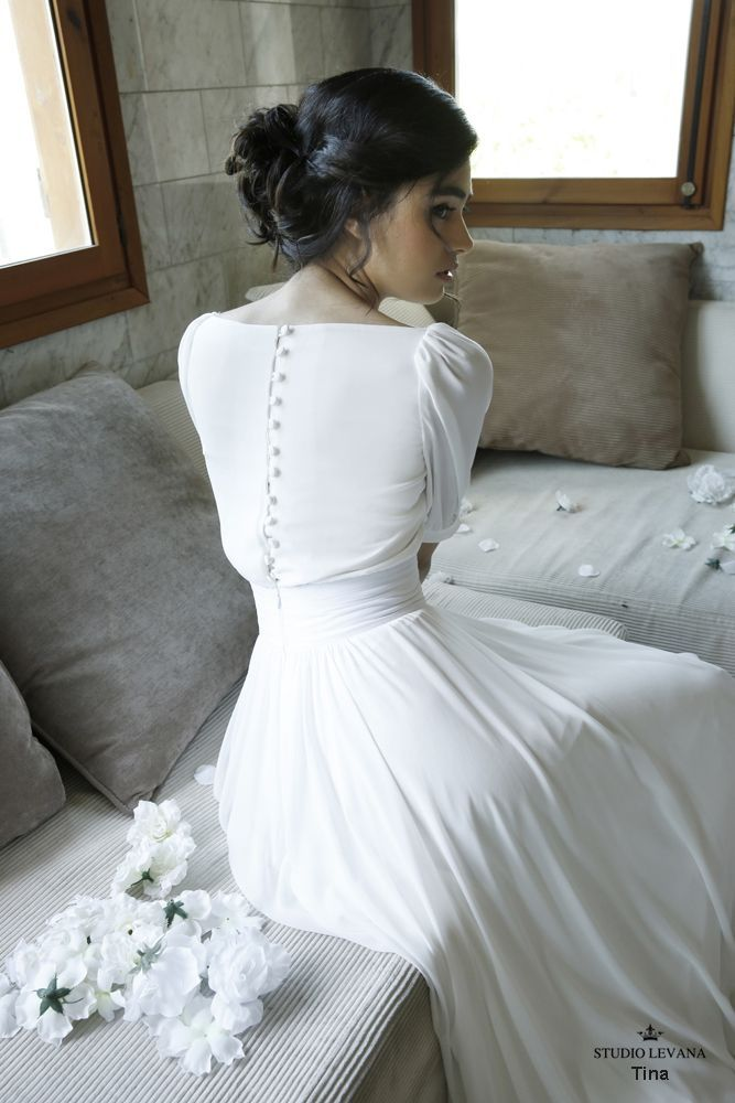 Photo of Modest Whispers-Modest wedding gowns – Studio Levana – Couture Wedding Gowns