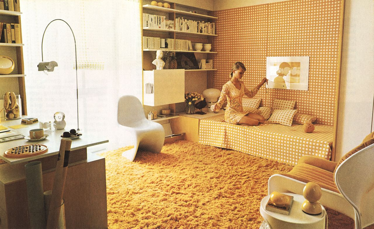 Popular Modernism Interior Doors For Sale Retro Interior 1980s Decor