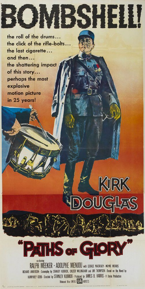 Paths of glory Kirk Douglas vintage movie poster print