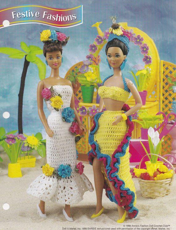 Festive Fashions, Annie\'s Crochet Fashion Doll Clothes Pattern ...