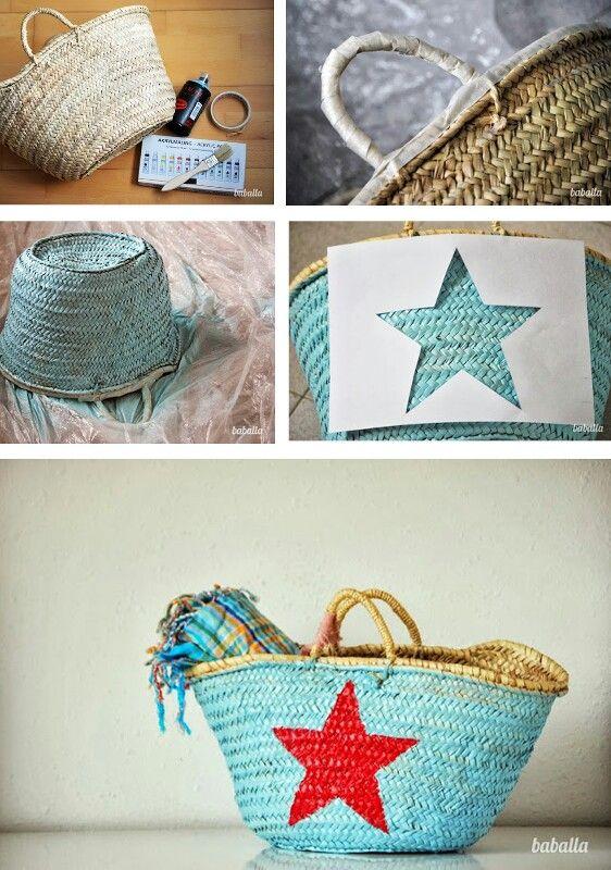 Diy customiser les paniers osier le blog de mes loisirs - Panier en osier casa ...