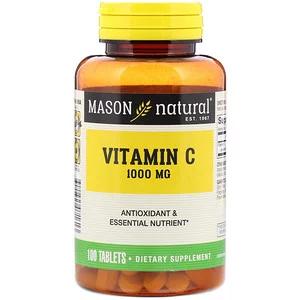 Mason Natural Vitamin C 1 000 Mg 100 Tablets Natural Vitamin C Natural Vitamins Vitamins