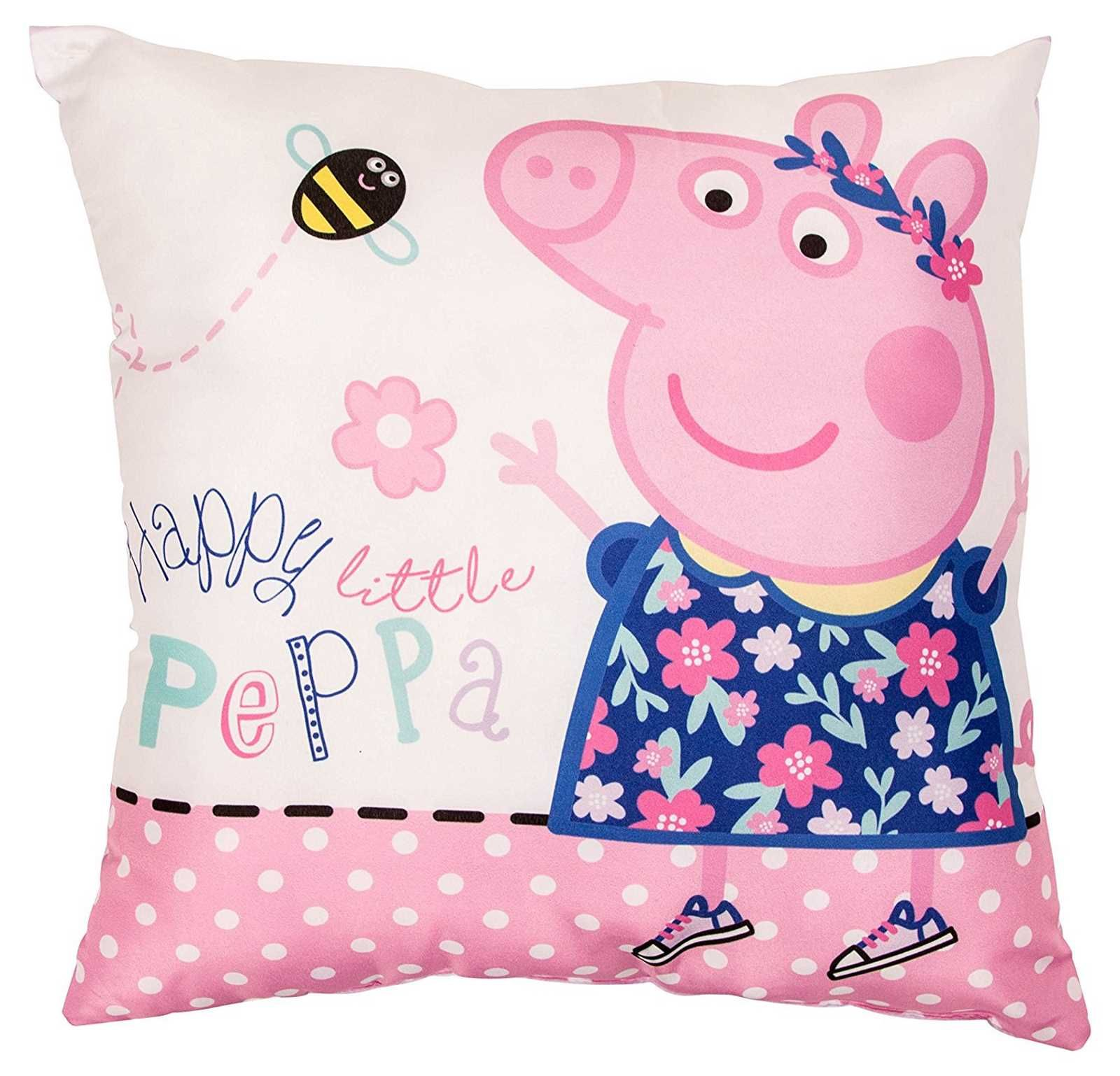 Peppa HAPPY Square Cushion 1 Bedroom accessories, Peppa