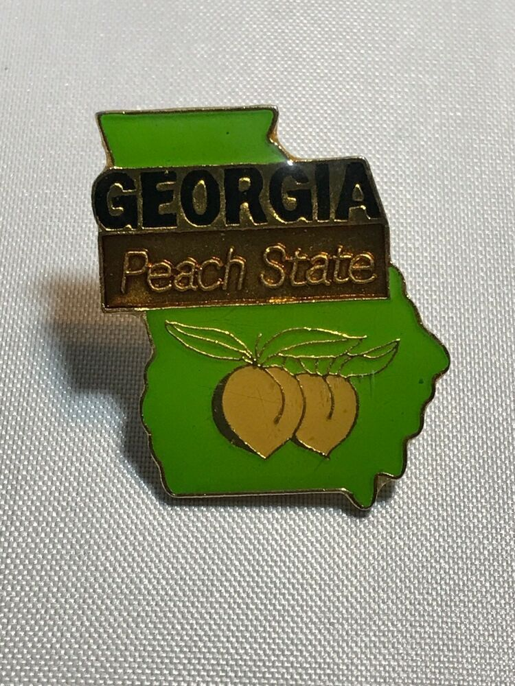 STATE MAP TRAVEL PIN Peach State Pinback