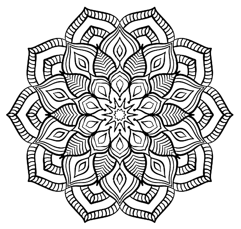 Mandala Big Flower Big Flower Forming A Mandala From The Gallery Mandalas Jus Mandala Coloring Pages Coloring Pages Inspirational Abstract Coloring Pages