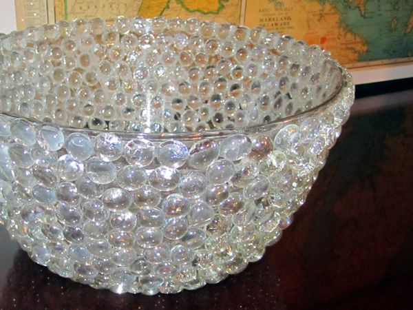 Diy Glass Beads Rock Bowl How To Tutorial Glue Onto Any