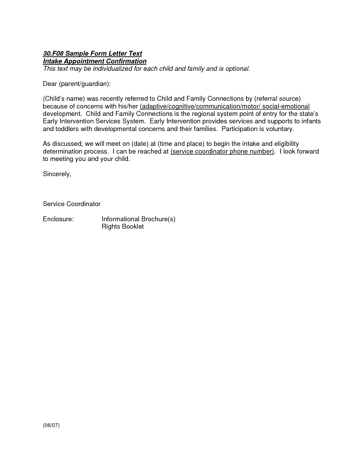 Appointment Confirmation Email Sample Meeting Employee Letter