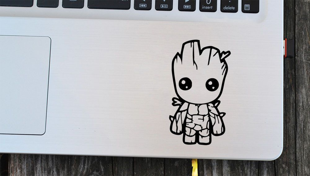 guardians of the galaxy decal, baby groot sticker for laptop, car