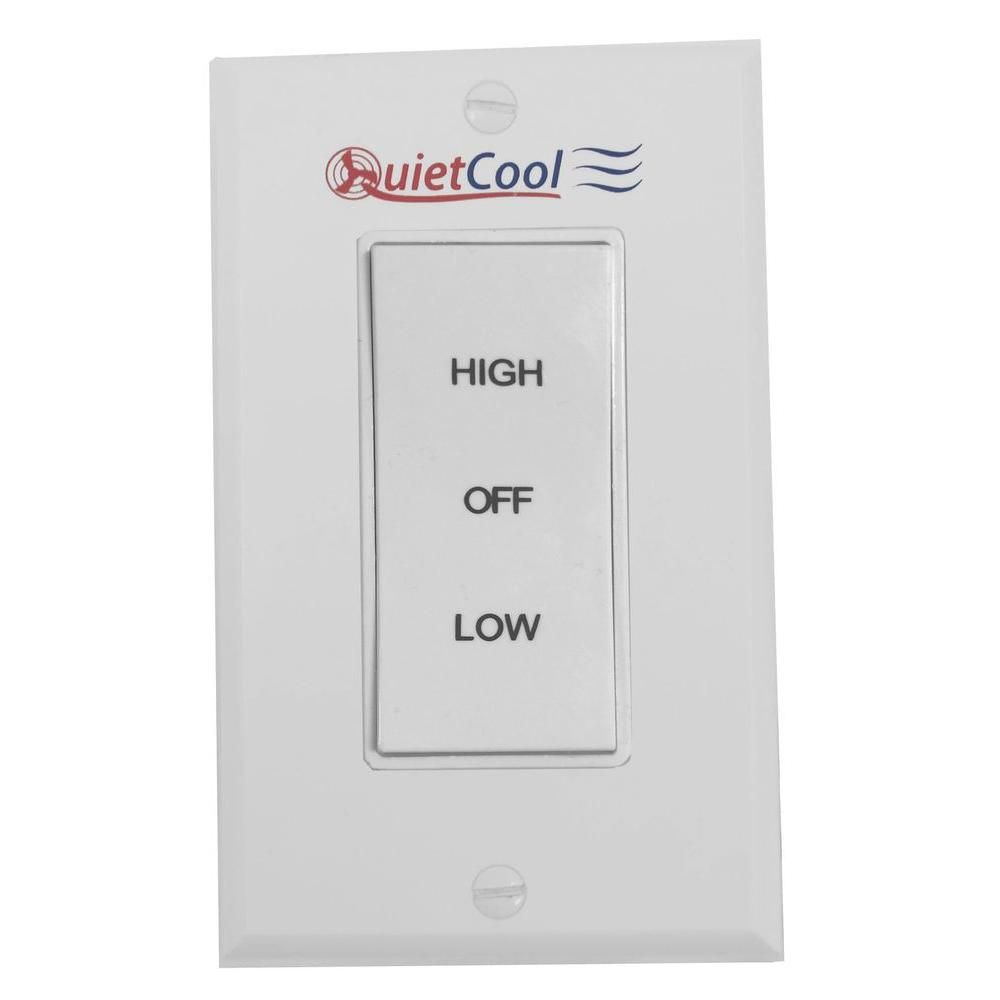 Quietcool 2 Speed Control Switch It 35000 The Home Depot House Fan Whole House Fans Countdown Timer
