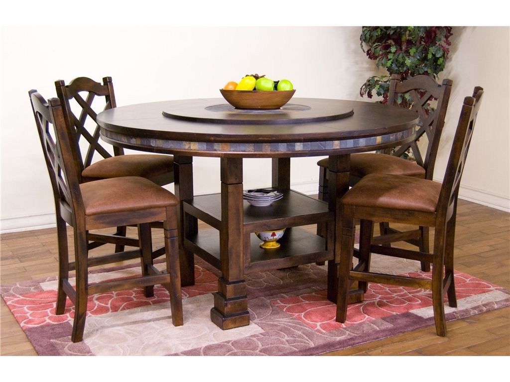 Marvelous Round Dining Room Table With Lazy Susan