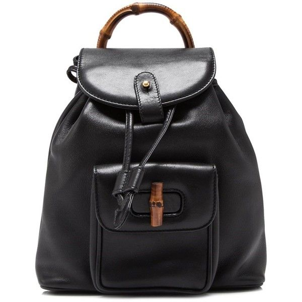 5b4ffdc0536 Pre-owned Gucci Bamboo Leather Backpack (2.150 BRL) ❤ liked on Polyvore  featuring