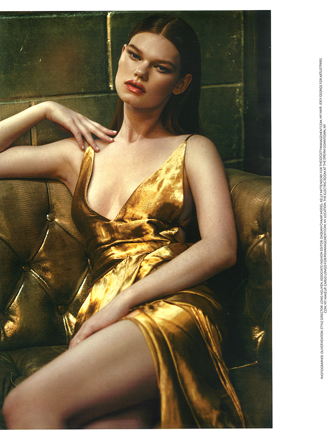 Kelly Mittendorf by Oliver Kearon for FLAUNT Magazine May 2014
