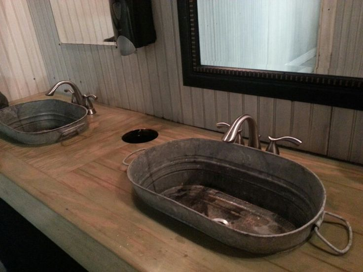 Bathroom Sinks Bowls galvanied sink bowls | the bucket sink, only a shiny new bucket