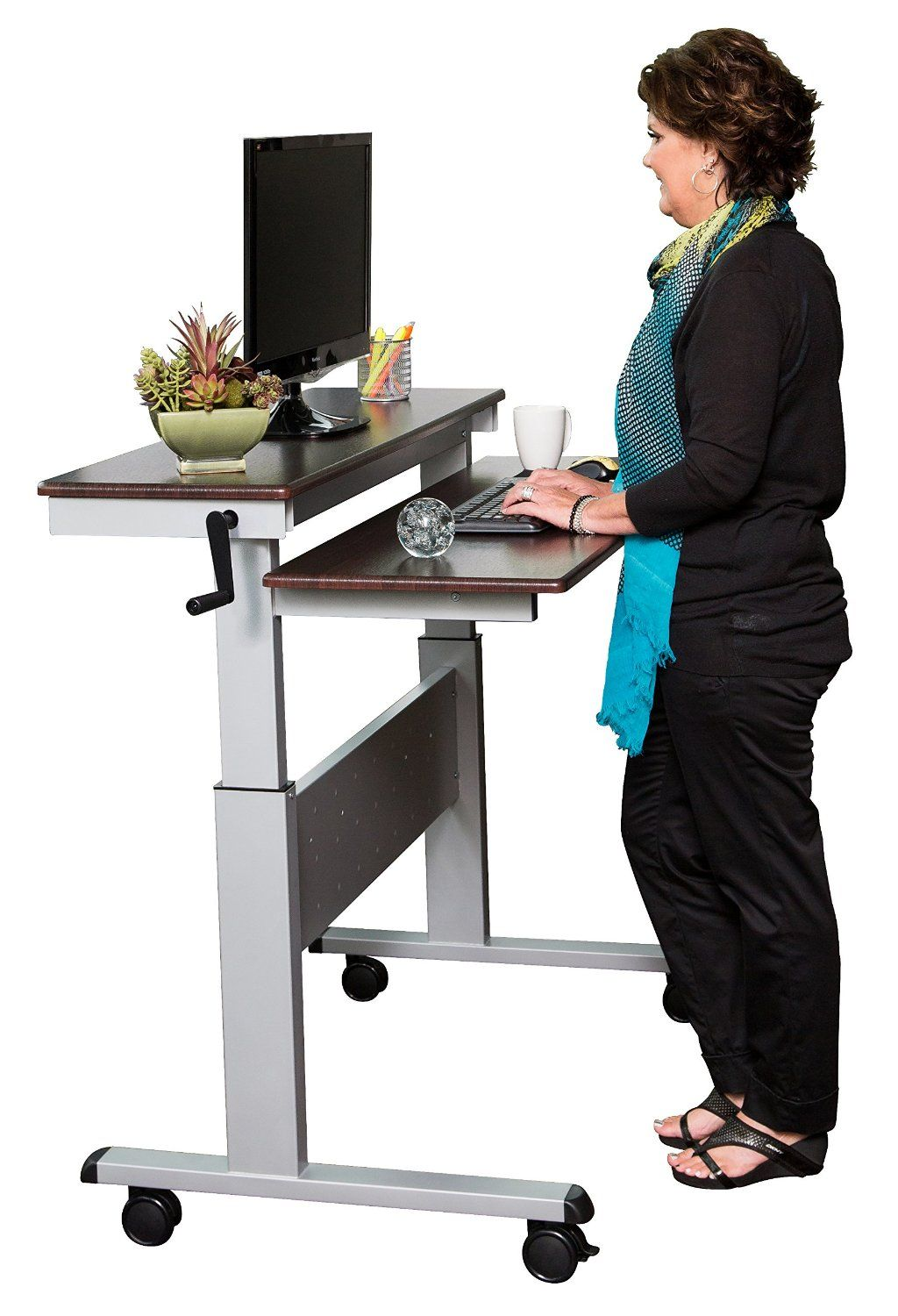 Robot Check Stand Up Desk Adjustable Height Standing Desk Sit To Stand