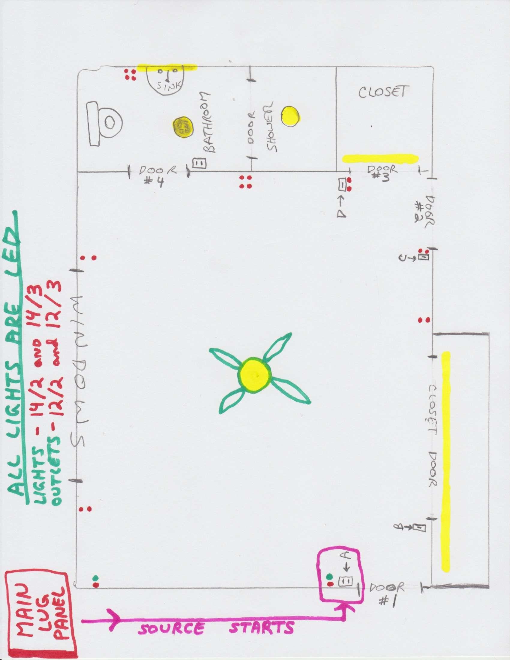 Wiring Diagram Bathroom House wiring, Ceiling fan pull