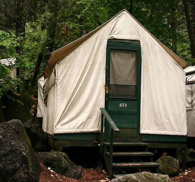 Tent cabin - Yosemite National Park CA - we stayed in one of these on our trip - fun experience! & Yosemite Tent Cabins | Yup that thereu0027s a classic Yosemite tent ...