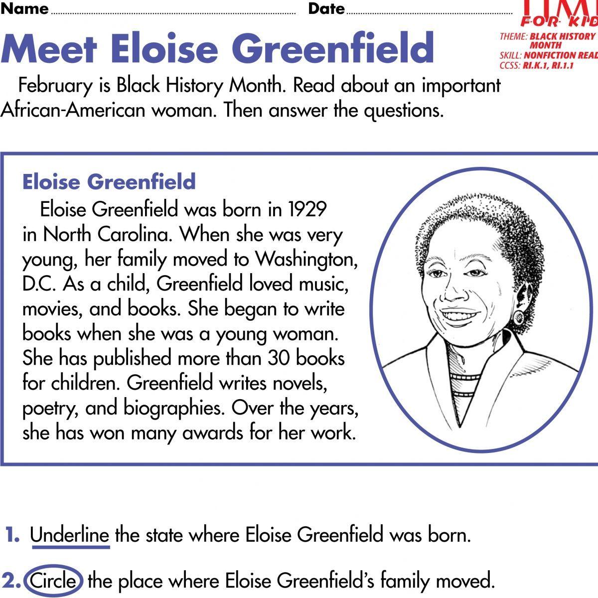 hight resolution of 1st Grade Social Studies Worksheets Black History Month Printables Black  History Mo…   Black history month printables