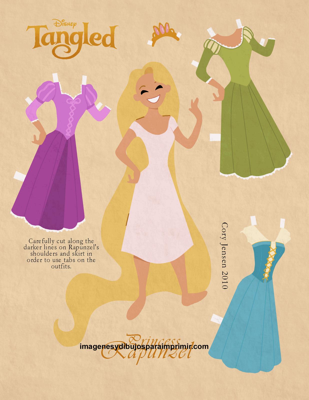 Imagen de rapunzel para recortar-Imagenes y dibujos para imprimir ...