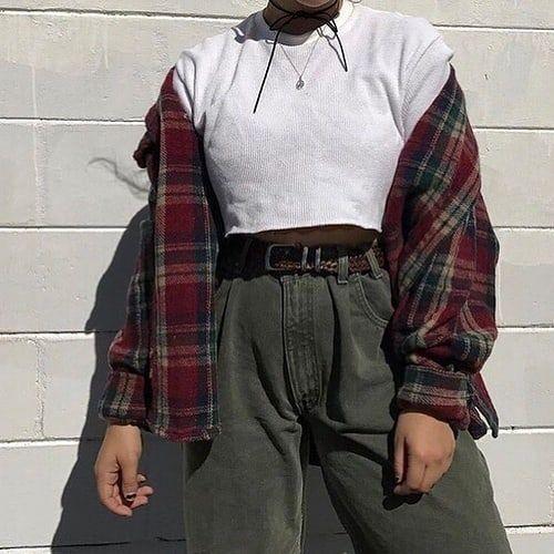 "Photo of Retro clothing on Instagram: ""#90fashion #90sstyle #90looks #90seralooks #90sbabes #vintage #grunge #grungetumblr #grungeaesthetic #aesthetic #aesthetictumblr #looks…"""