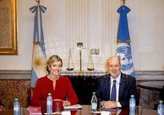 Koningin Maxima in Argentie namens de VN
