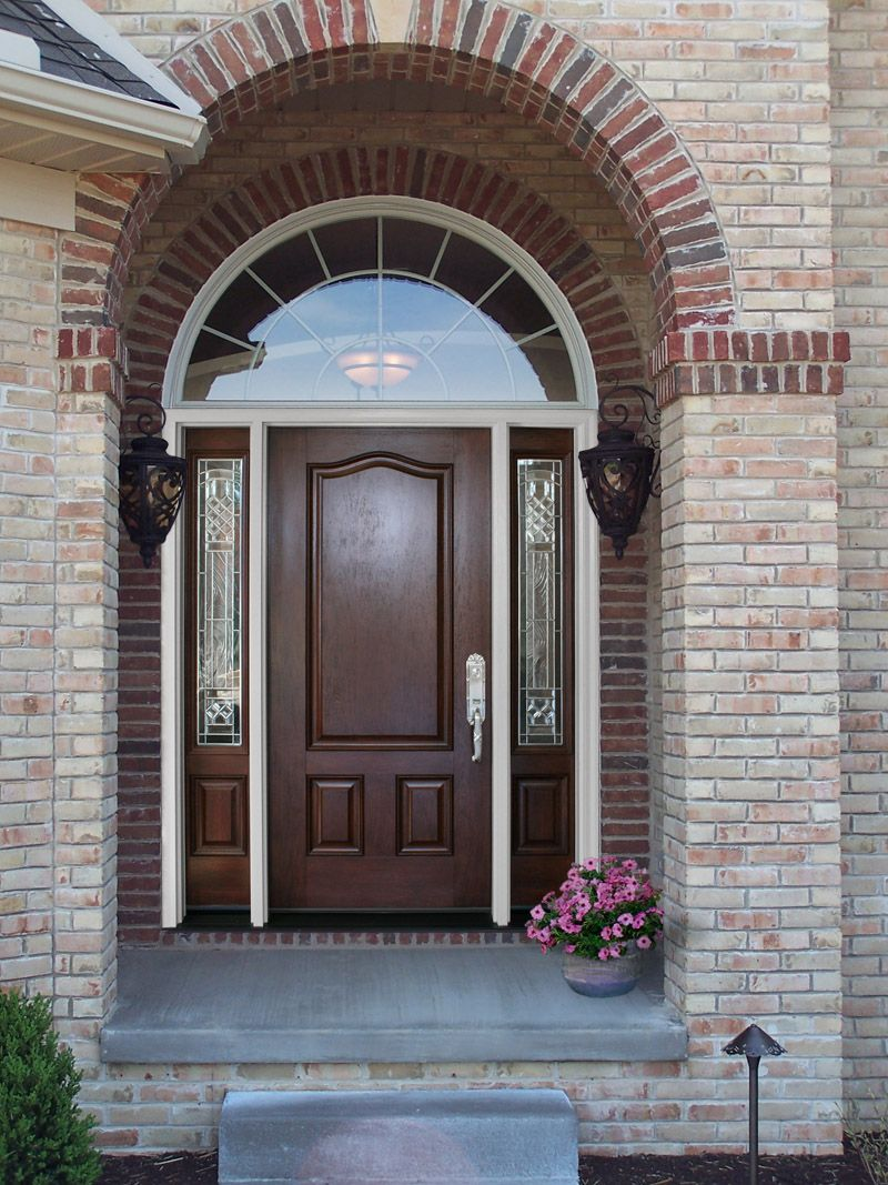 Front door with sidelights and transom - Provia Signet Fiberglass Entry Door Model 003 140crs