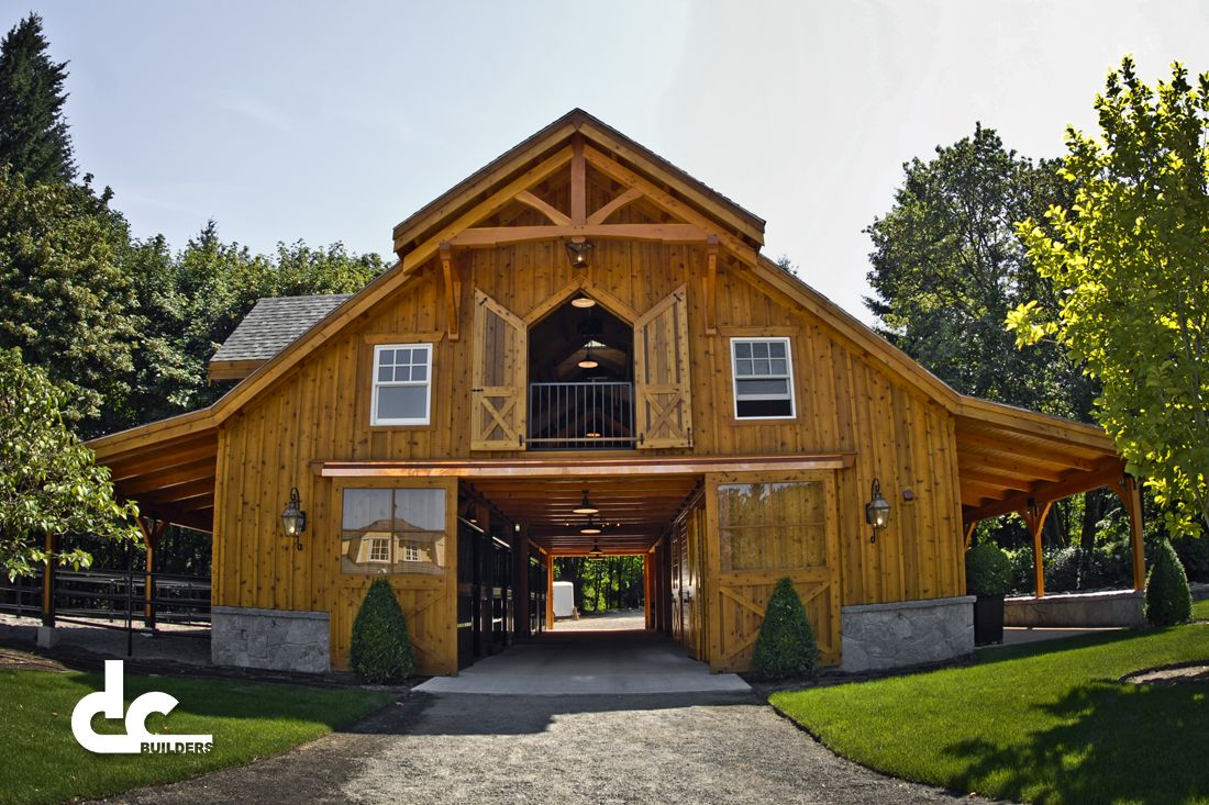 Custom apartment barn west linn or dc builders 1100 for Log barn homes