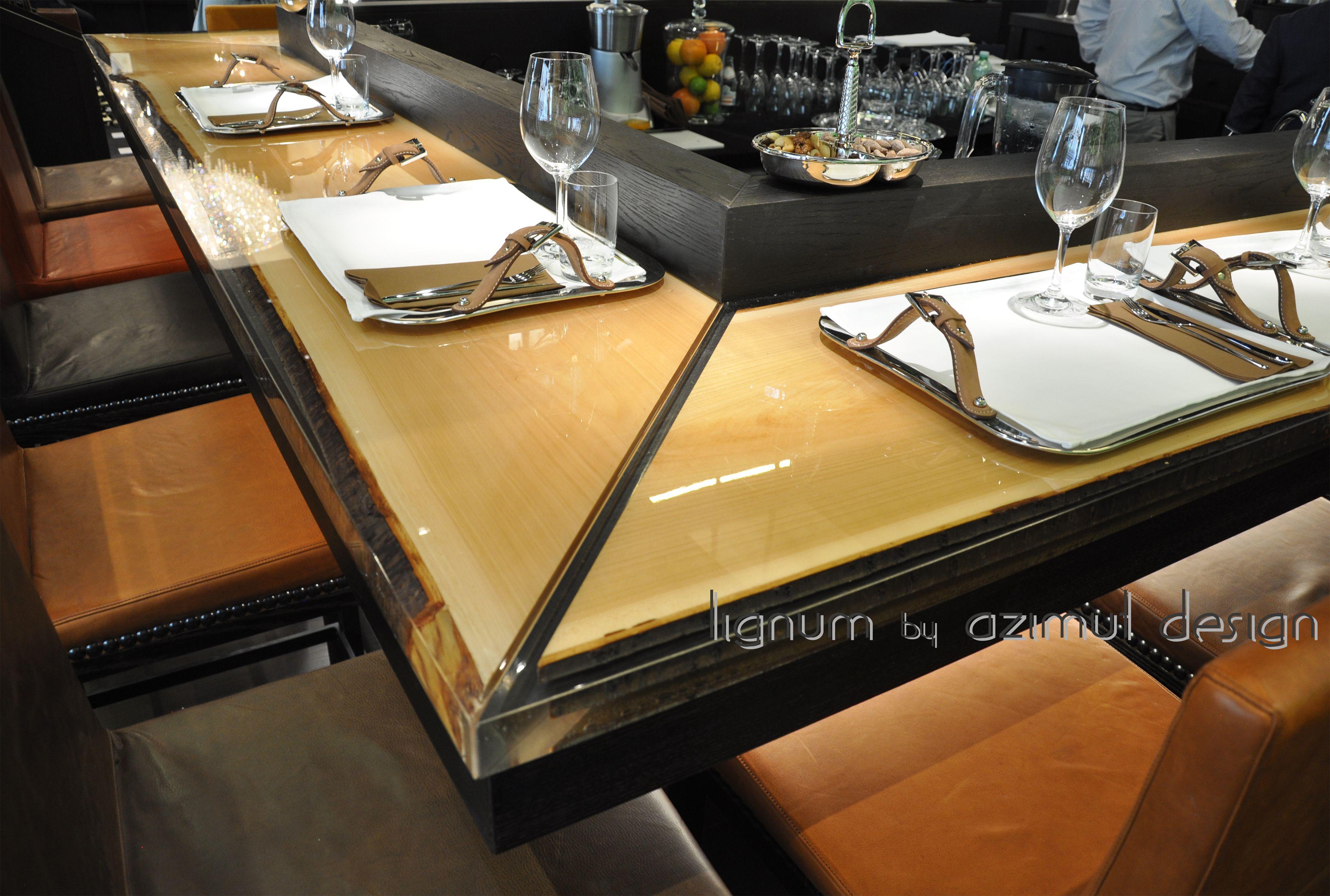 Tavoli In Legno E Resina E Oggetti D Arte Azimut Design Design Epossidico Banconi