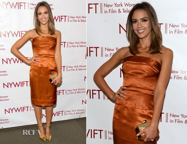 Jessica Alba In Vivienne Westwood – 2014 New York Women In Film And Television 'Designing Women' Awards Gala