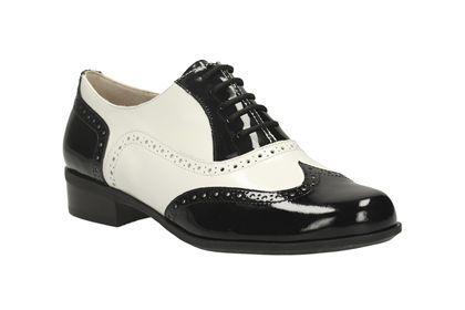 clarks hamble oak zwart/wit damesschoenen casual