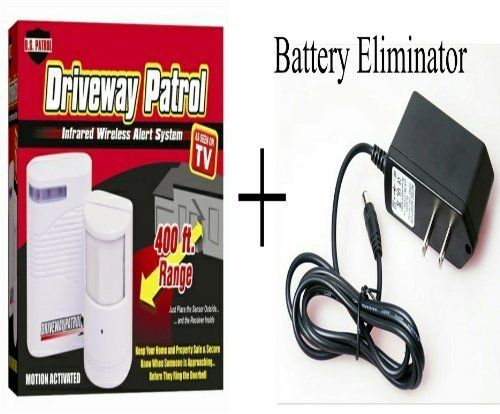 Driveway Patrol Alarm with Power Supply Battery Eliminator