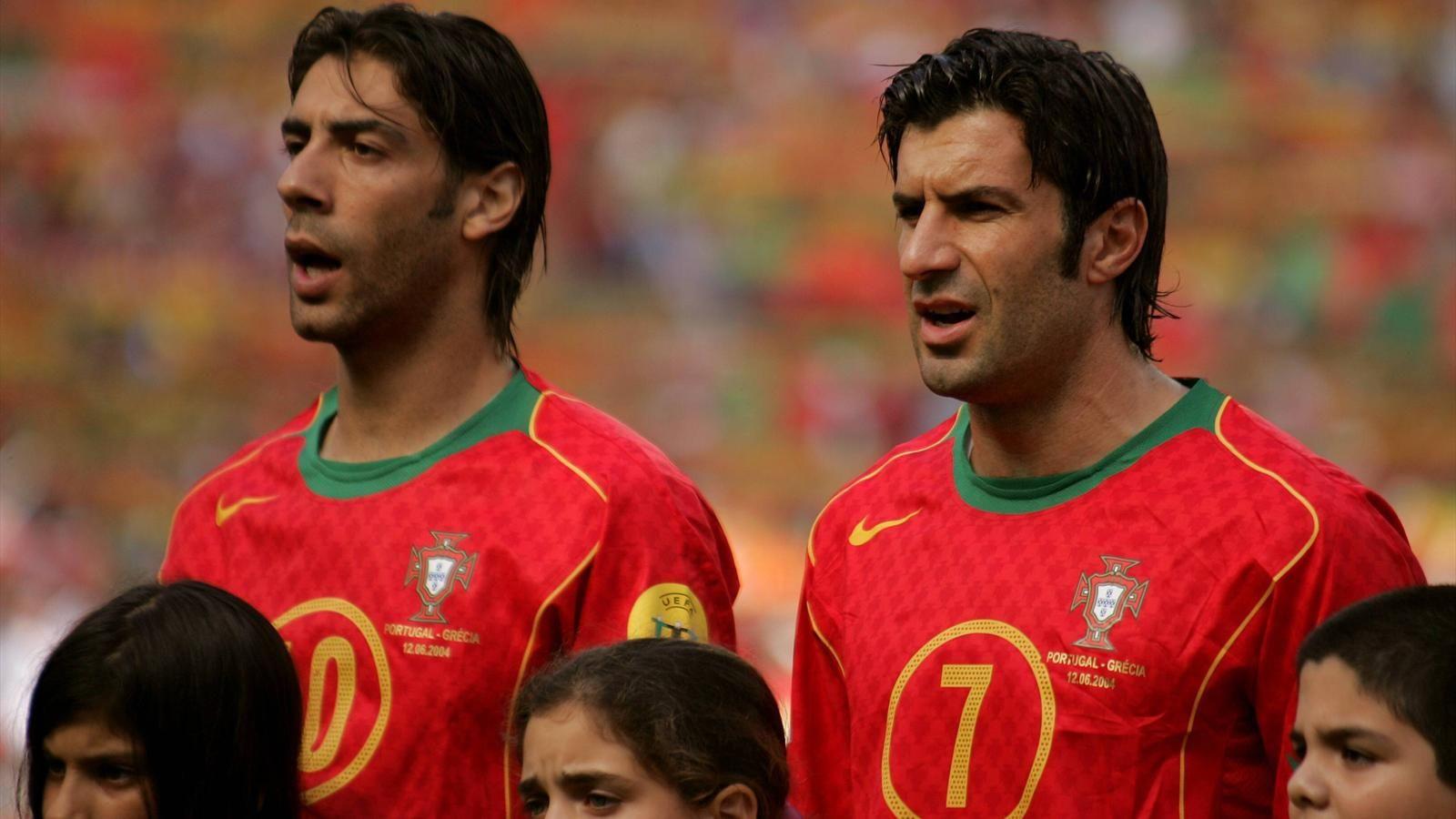 Manuel Rui Costa & Luis Figo Portugal