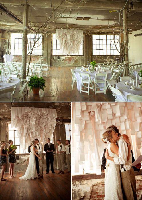 Ceremony in Reception Hall  wedding ceremony reception hall Same Room  Wedding Decor etc