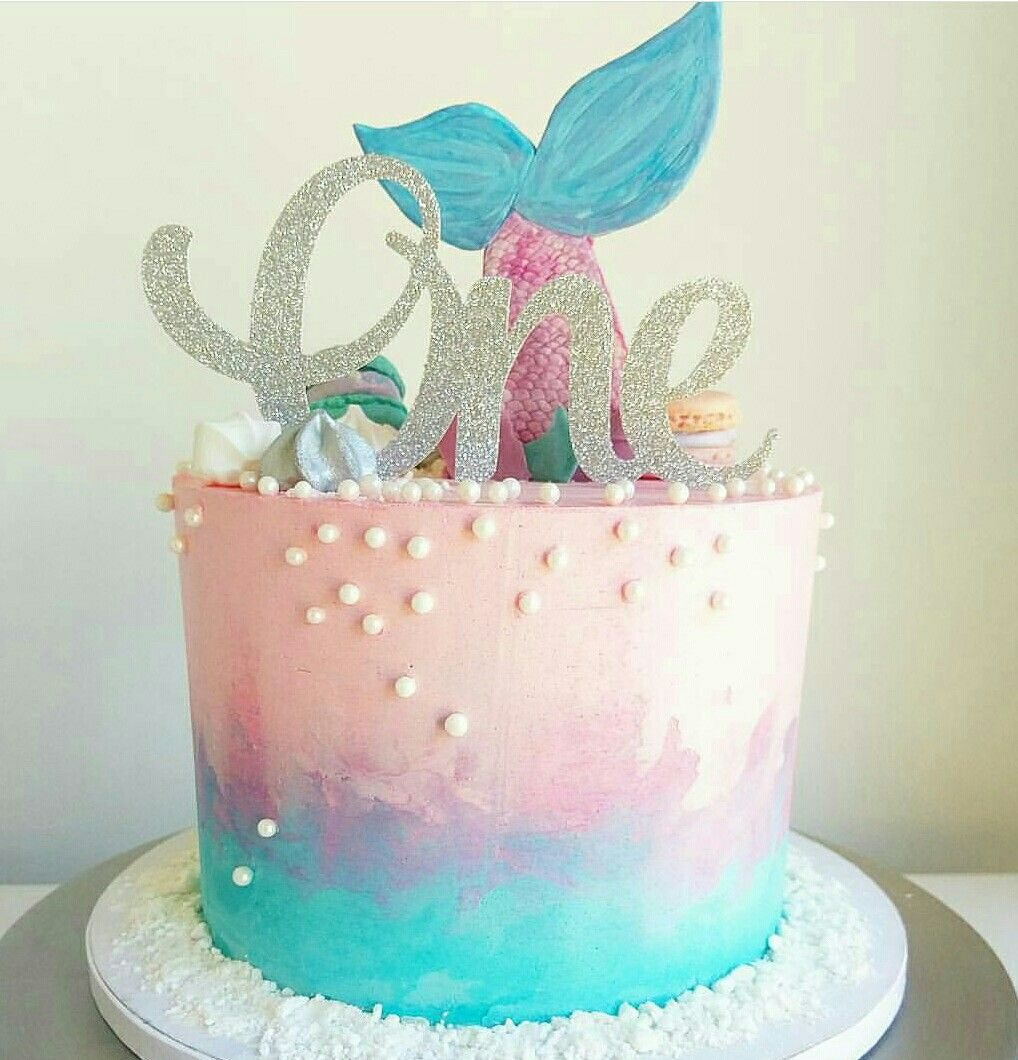 Cute Mermaid Cake With Images Mermaid Birthday Cakes