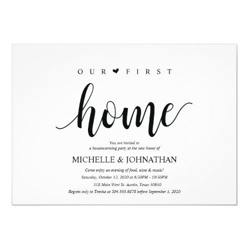 Our new home, Housewarming party invitation cards