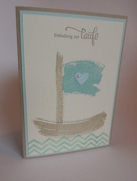 Einladungskarten   Einladung Zur Taufe | Schiff | Junge   Ein Designerstück  Von Stempeldorf Bei DaWanda