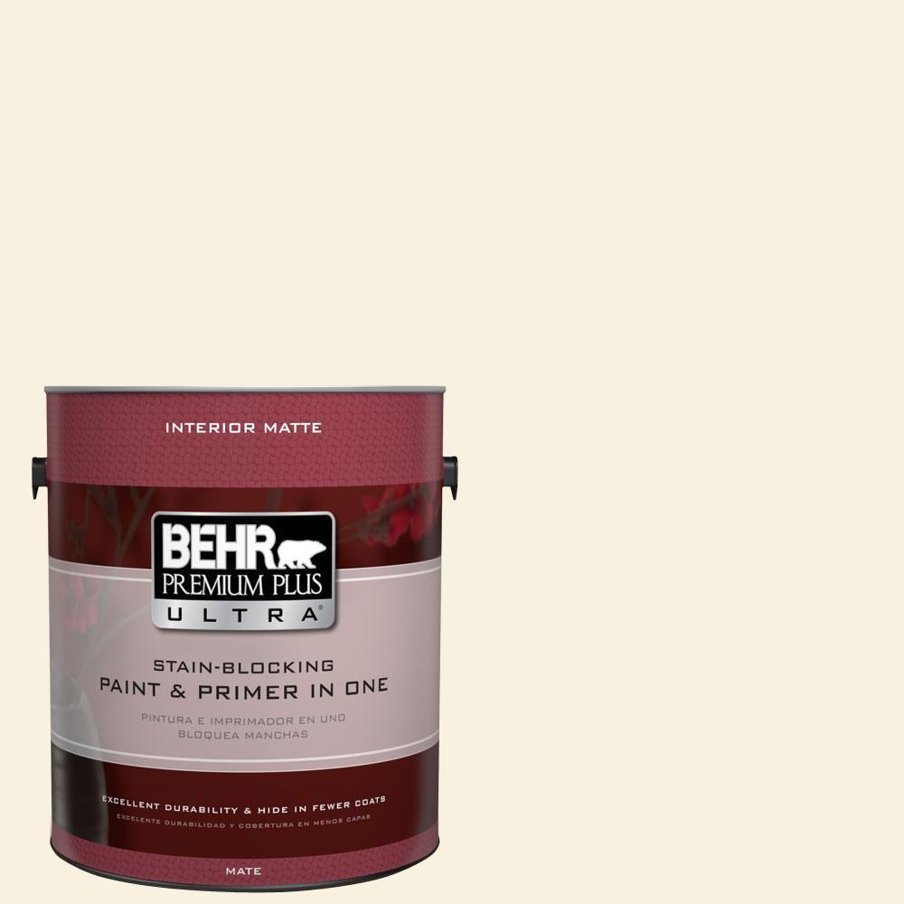 BEHR Premium Plus Ultra 1 gal. #M320-1 Painter's Canvas Matte Interior Paint