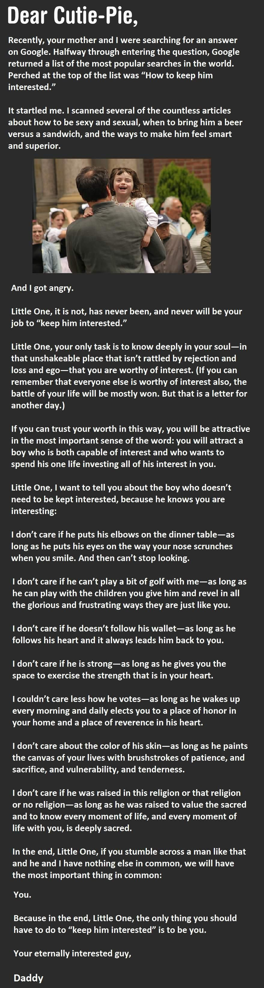 After Getting On His Daughter's Computer, This Dad Writes This Letter...
