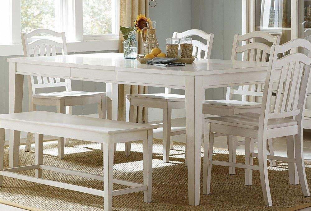 Balthazar Eucalyptus 59 Inx 32 Inpatio Dining Table  Patios Glamorous White Dining Room Bench Design Ideas