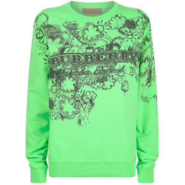 doodle print sweatshirt - Green Burberry Clearance Cheapest Price yfig668