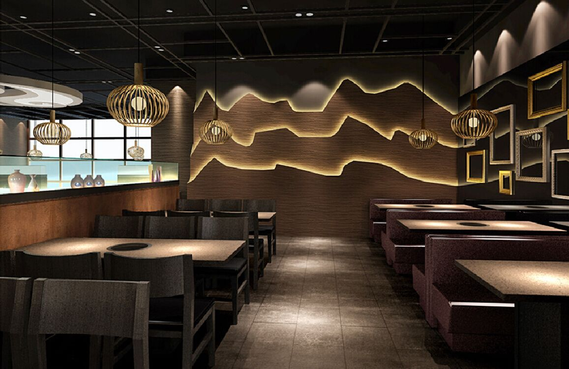 Korean Restaurant Interior Design | Recently Korean Restaurant ...