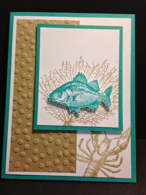 By The Tide Masculine Card Stampin Up Rubber Stamping Handmade Cards