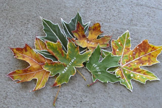 Fall leaf activity & prayer reflection