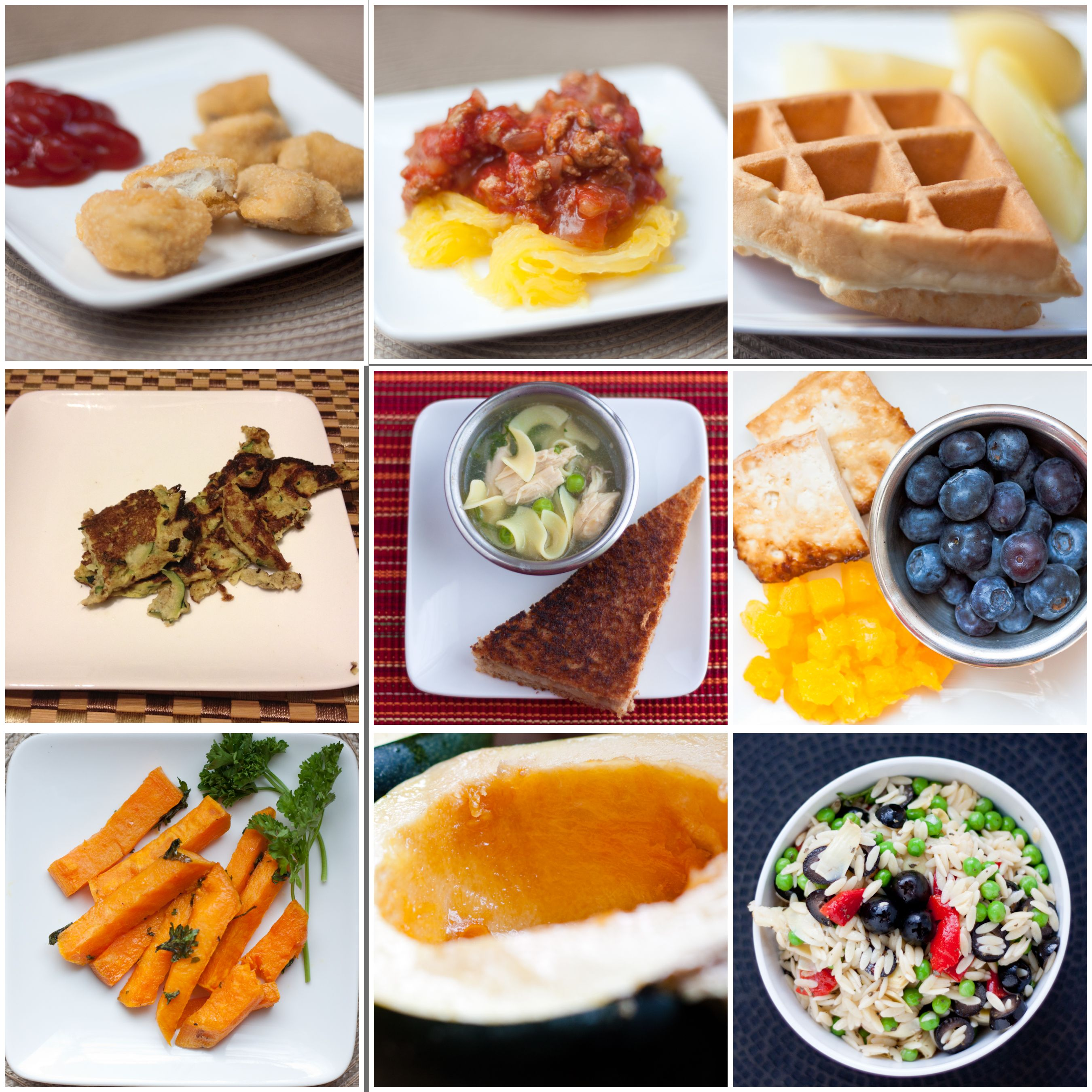 sample weekly meal plan for a 1 year old from livinglikethekings