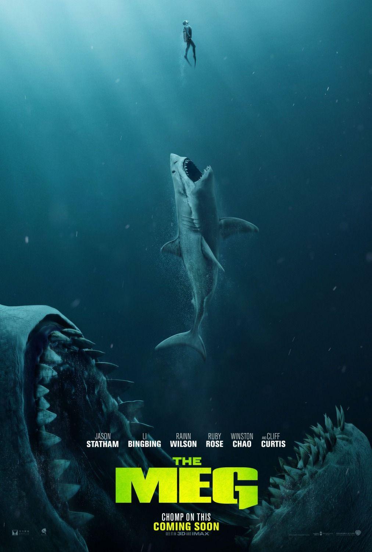 New Poster For Horror Sci Fi The Meg Starring Jason Statham