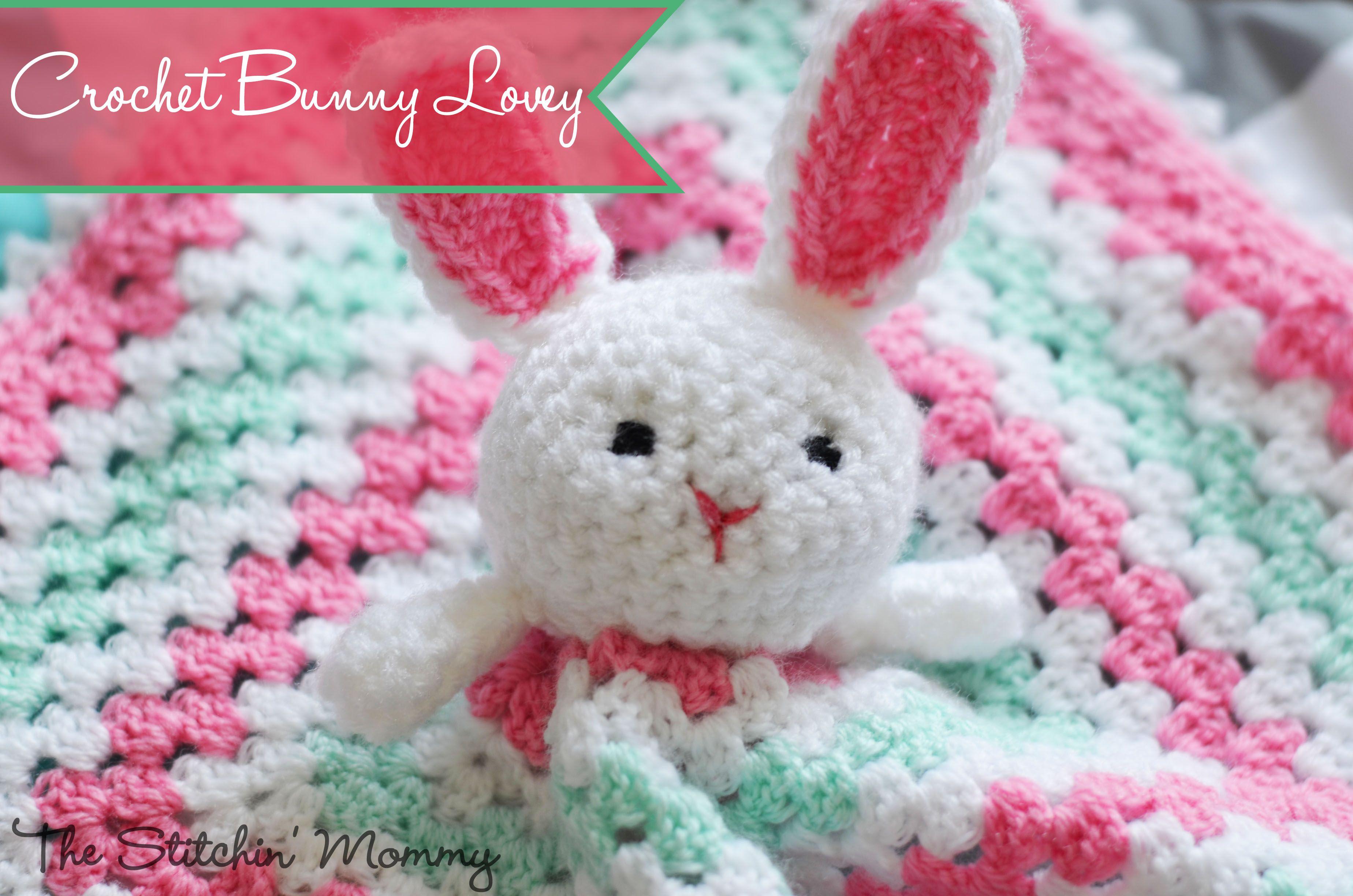 Crochet Bunny Lovey - Free Pattern   Manta, Manta de lana y Ganchillo