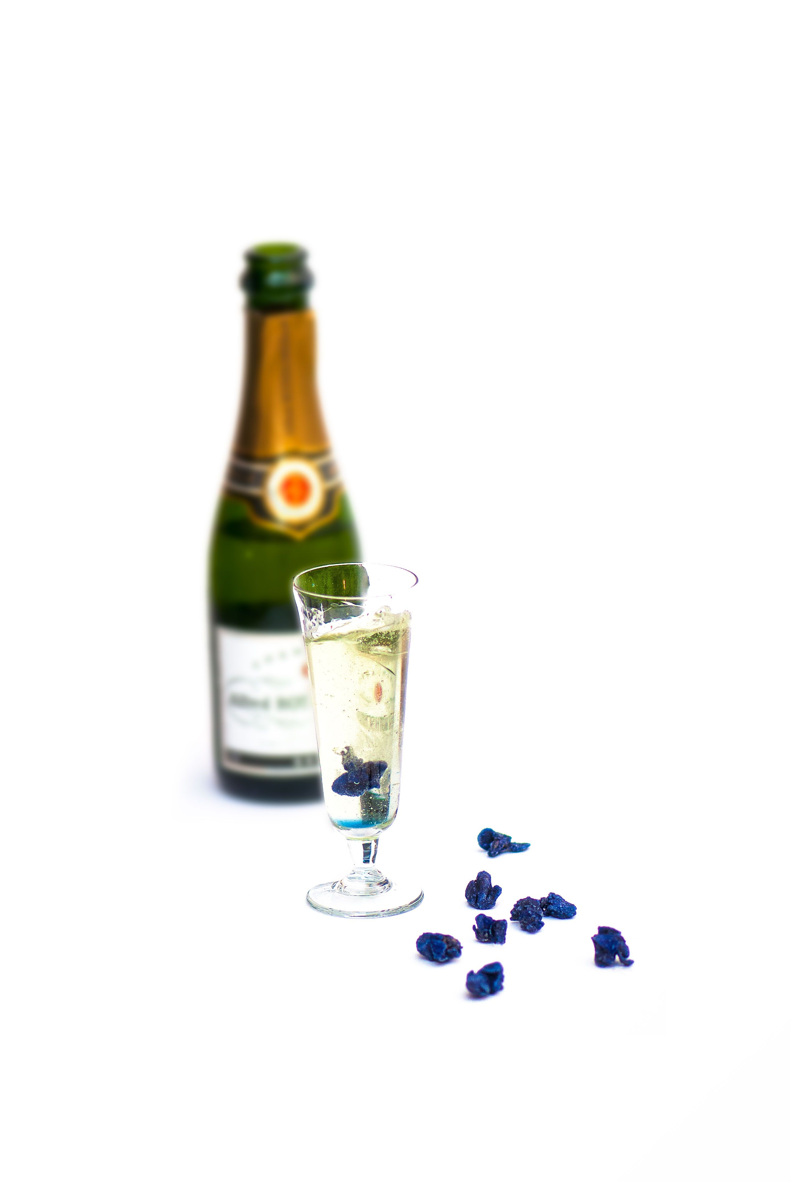 Drop a crystallized violet in a flute of champagne for a perfect New ...