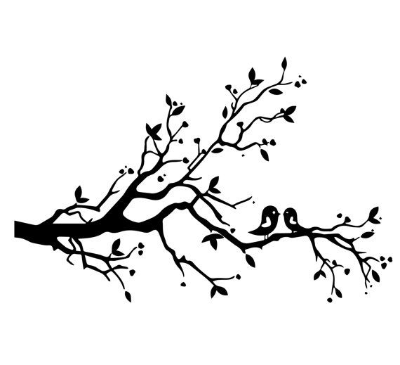 Image result for tree branch bird silhouette svg | Cricut ...