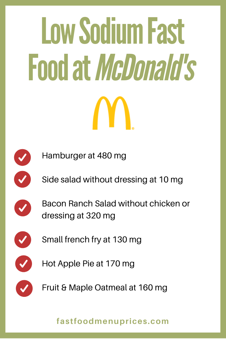 Low Sodium Fast Food Your Best Options (With images